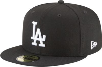 New Era La Dodgers Black 59 Fifty Hat