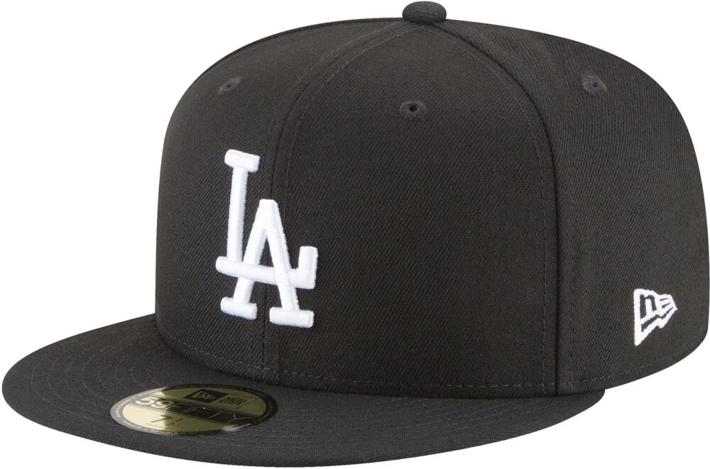 New Era La Dodgers Black 59 Fifty Hat
