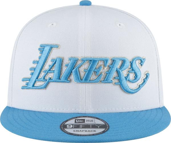 New Era La Lakers White Light Blue Snapback