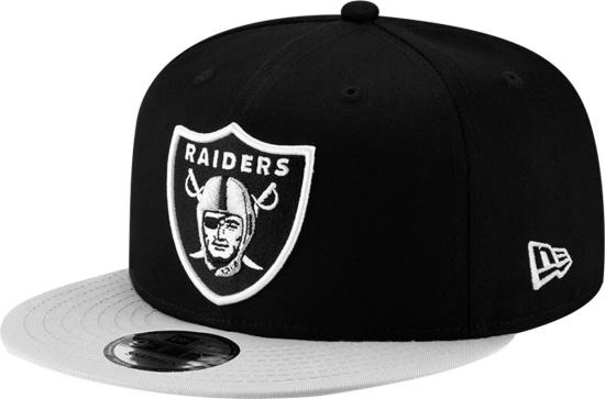 New Era Las Vegas Raiders Black And Silver Brim Snapback