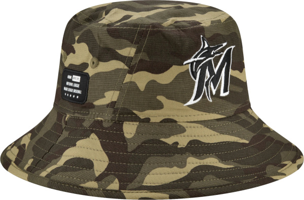 New Era Miami Marlins 2021 Armed Forces Day Bucket Hat