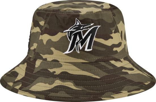New Era Miami Marlins Camouflage Bucket Hat