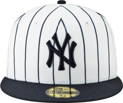 New Era New York Yankees White Blue Pinstripe Hat