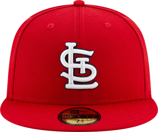 New Era St Louis Cardinals Red Fitted Hat