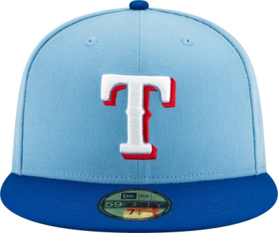 New Era Texas Rangers Light Blue 59fifty