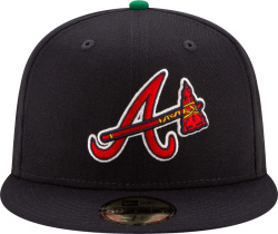 New Era X Offset X Atlanta Braves Navy Blue Tomahawk Logo 59fifty