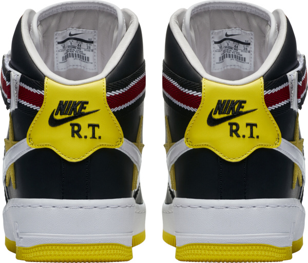 Nike Air Force 1 High Black Red Yellow Ankle Strap