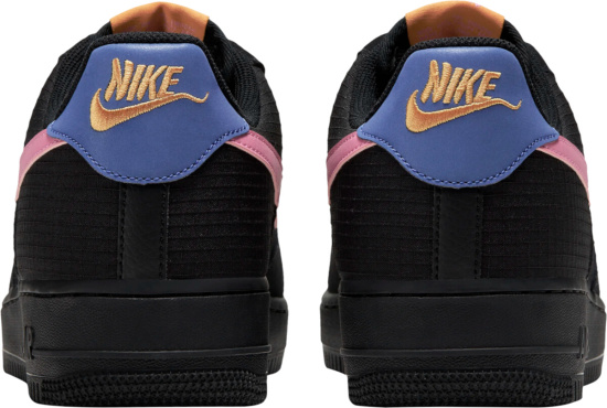 Nike Air Force 1 Low Black Levendar Pink And Orange