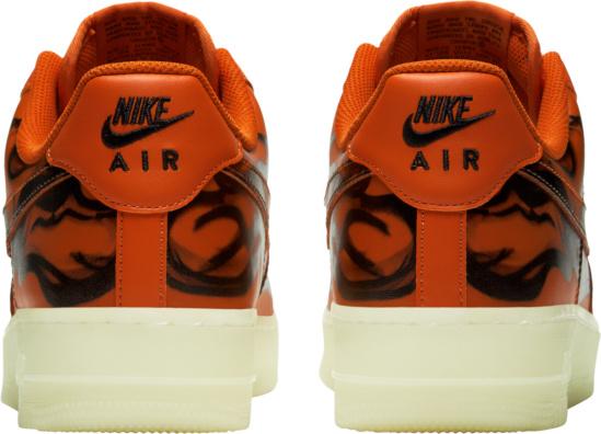 Nike Air Force 1 Low Orange Skeleton