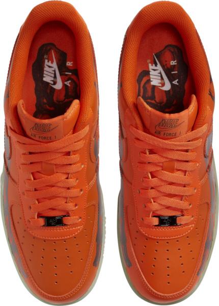 Nike Air Force 1 Low Orange Skeleton Print