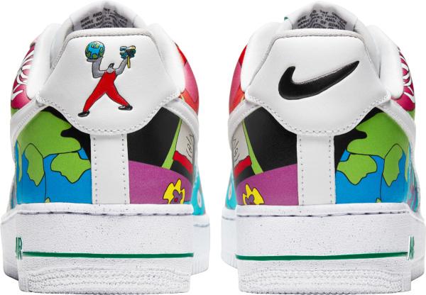 Nike Air Force 1 Low Rouhan Wang Cartoon Sneakers