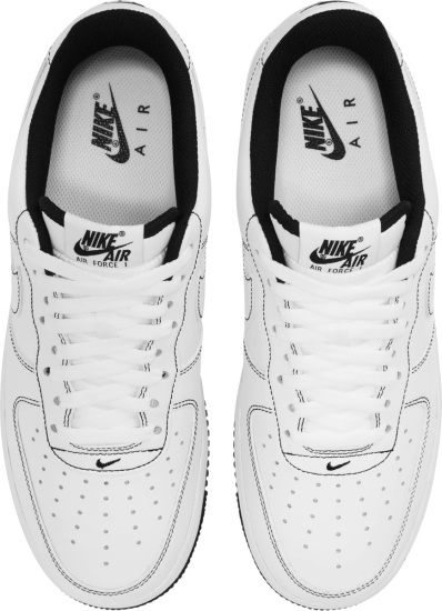 Nike Air Force 1 Low White With Black Lining