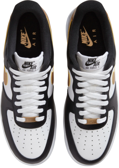 Nike Air Force 1 White Black Gold