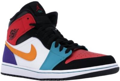 Nike Air Jordan 1 Bred Mid Sneakers