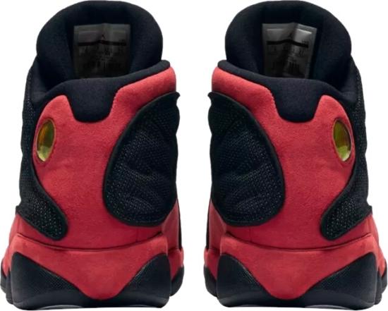 Nike Air Jordan 13 Black And Red Sneakers