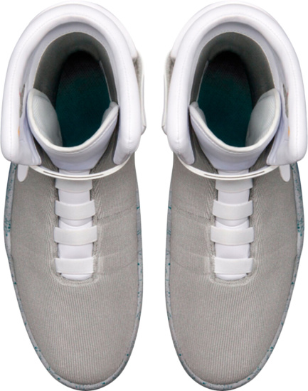 Nike Air Mag Grey High Top Auto Lace Sneakers
