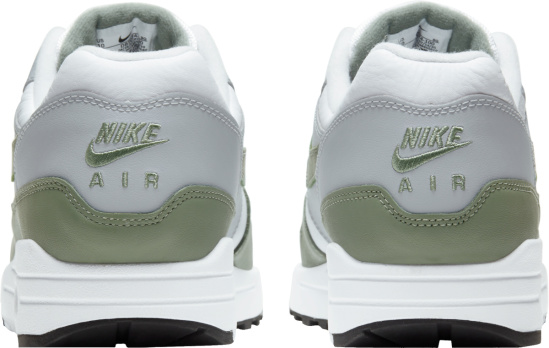 Nike Air Max 1 White Grey And Dark Green Sneakers