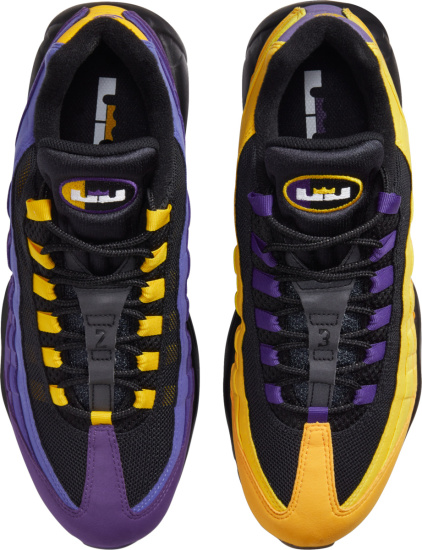 Nike Air Max 95 Purple And Yellow Mismatching