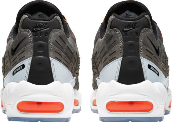 Nike Air Max 95 White Grey And Neon Orange Sneakers