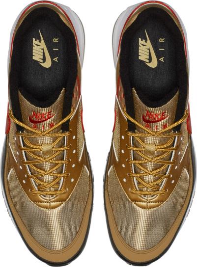 Nike Air Max 97 Gold Black Red Sneakers