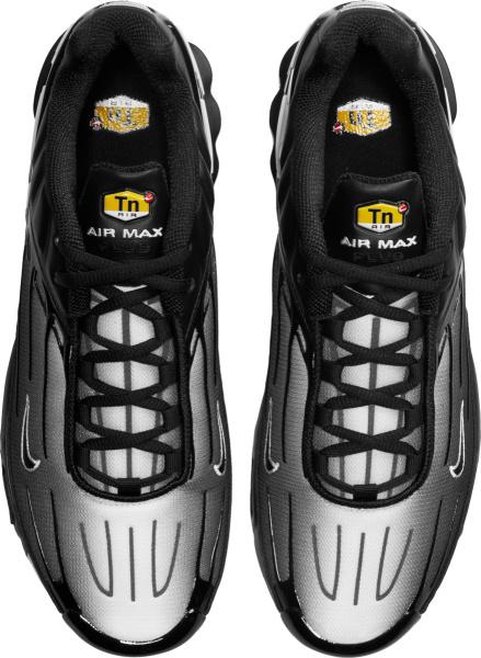 Nike Air Max Plus 3 White Grey Black Gradient Sneakers