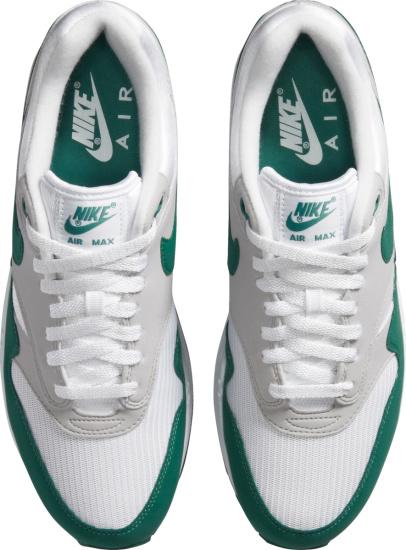 Nike Air Max White Grey And Dark Green Sneakers