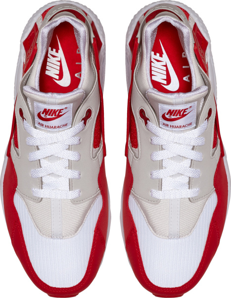Nike Air White And Red Lower Chunky Sole Sneakers