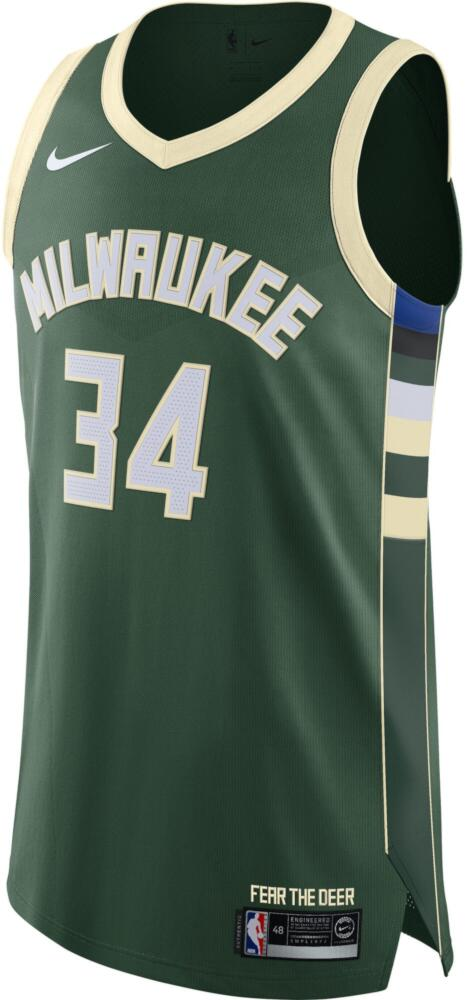 Nike Authentic Giannis Antetokounmpo Milwaukee Bucks Jersey Green
