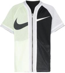 Nike Black And White Split Zip Up Baseball Jersey