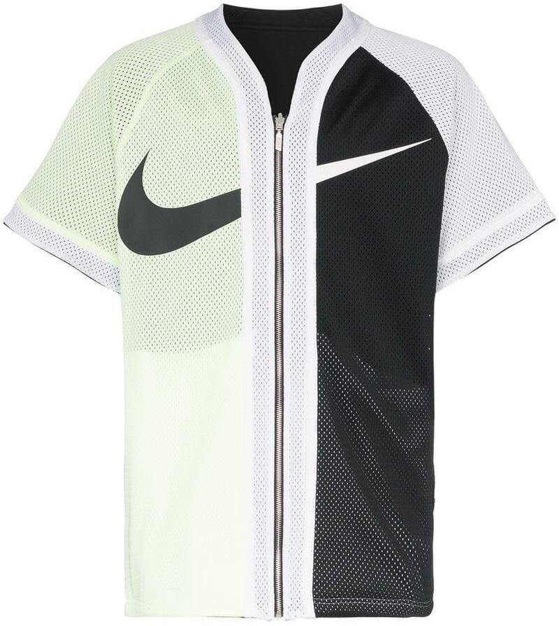 Nike Black And White Split Zip Up Baseball Jersey