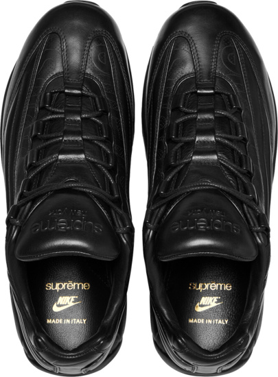 Nike Black Leather High Top Air Max Sneakers