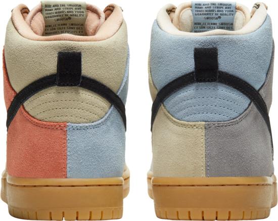 Nike Dunk High Multicolor Pastel Suede