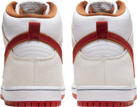 Nike Dunk High Sb White Ivory Red Brown