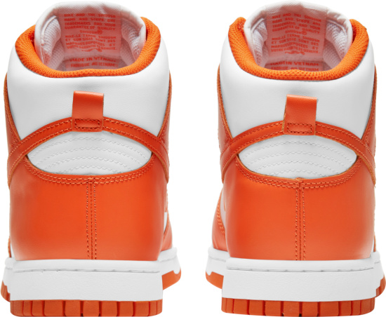 Nike Dunk High Top White And Orange