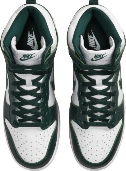 Nike Dunk High White And Dark Green