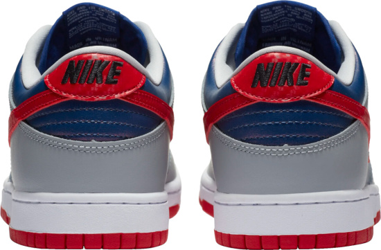 Nike Dunk Low Grey Blue Red
