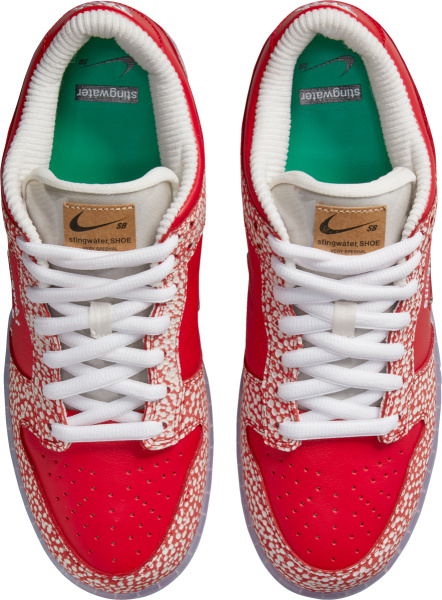 Nike Dunk Low Red And Red And White Speckled
