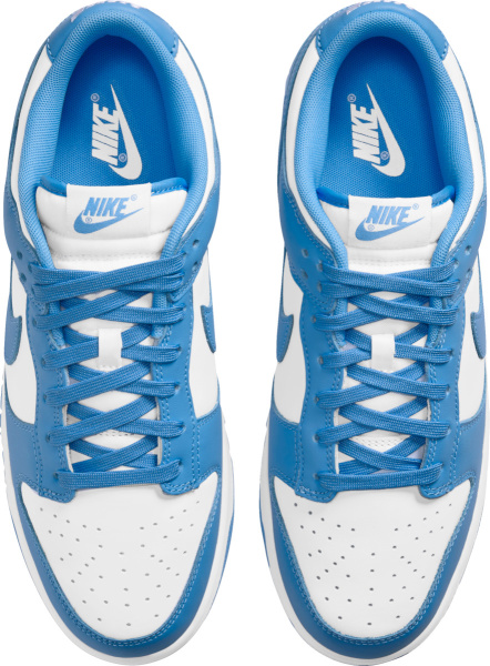Nike Dunk Low White And Light Blue Sneakers