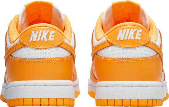 Nike Dunk Low White And Yellow Orange