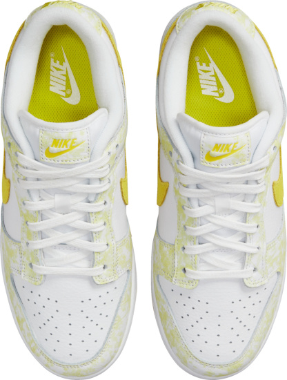 Nike Dunk Low White And Yellow Sneakers