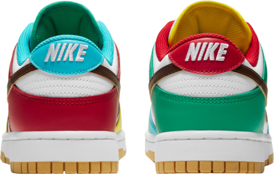 Nike Dunk Low White Mismatching Sneakers