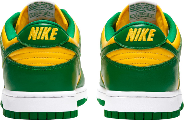 Nike Dunk Low Yellow Green And White Sneakers