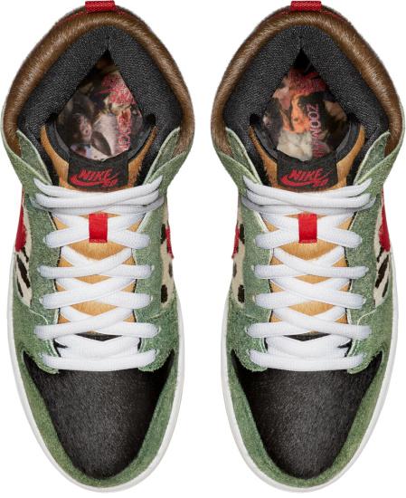 Nike Dunk Sb High Green Suede Brown Fur