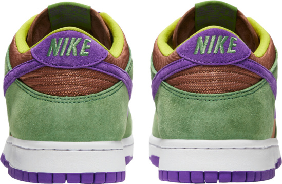 Nike Dunk Sb Low Purple Green Suede Brown Canvas