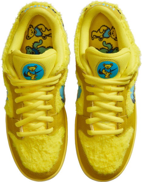 Nike Dunk Sb Low X Grateful Dead Yellow Fur Bears