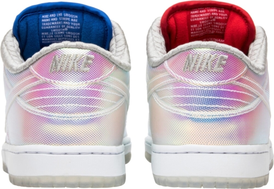 Nike Dunk Sb Metallic Red And Blue