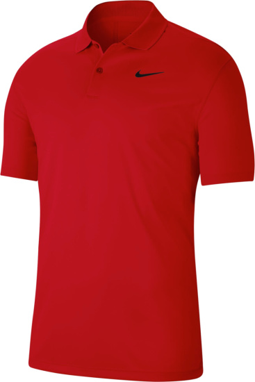 Nike Gold Red Victory Polo