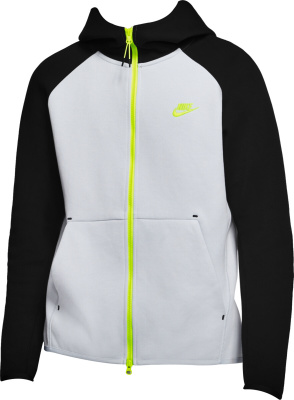 Nike Grey Black Yellow Zip Hoodie