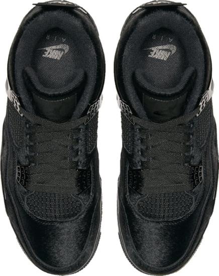 Nike Jordan 4 Black Fur