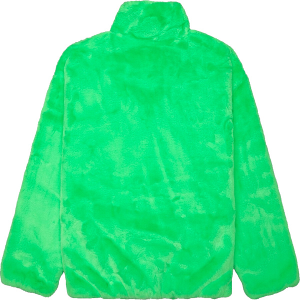 Nike Kelly Green And Black Faux Fur Jacket